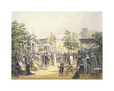 The Volksgarten, Vienna Premium Giclee Print by Carl Goebel