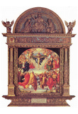 Albrecht Durer (Landauer altar inside, Scene One: Adoration of the Trinity by the Civitas Dei) Plakater