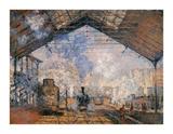 Le Gare du Nord Impressão giclée premium por Claude Monet