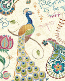 Peacock Fantasy II Prints by Daphne Brissonnet