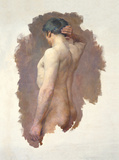 Male Nude Premium Giclee Print by John William Whiteley