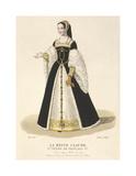 La Reine Claude, 1st Wife of Francois I Premium Giclee Print by Louis-Marie Lante