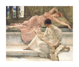 The Favourite Poet, 1888 Premium Giclee Print by Sir Lawrence Alma-Tadema