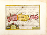 L'Ile de Candie, Anciennement Crete, c1733 Premium Giclee Print by Pieter Van Der Aa