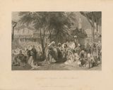 The Aurut Bazaar, or Slave Market Premium Giclee Print by Thomas Allom