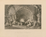 The Great Bazaar, Constantinople Premium Giclee Print by Thomas Allom