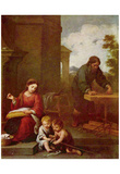 Bartolomé Esteban Perez Murillo (Holy Family with John boy) Art Poster Print Poster