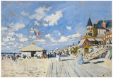 Claude Monet (Sur les Planches de Trouville) Art Poster Print Prints