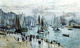 Claude Monet (Fishing Boats Leaving the Harbor, Le Havre) Art Poster Print Masterprint