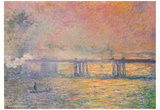 Claude Monet (Charing Cross Bridge) Art Poster Print Poster