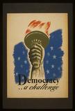 Democracy (A Challenge) Art Poster Print Masterprint