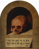 Bartholomew Bruyn d. Ä. (Skull in a niche) Art Poster Print Masterprint