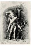 Andrea (School) Mantegna (Hercules and Antaeus) Art Poster Print Print