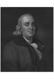 Benjamin Franklin (Portrait, Engraving) Art Poster Print Art Poster Print Posters