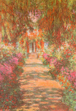 Claude Monet (Garden Path at Giverny) Art Poster Print Masterprint