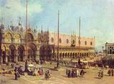 Canaletto (II) (La Piazza San Marco) Art Poster Print Masterprint