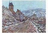 Claude Monet (Winter Road) Art Poster Print Photo