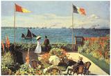 Claude Monet (Jardin a Sainte-Adresse) Art Poster Print Poster
