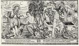 Albrecht Schmid (Ten biblical scenes, John the Baptist and the Resurrected Christ) Art Poster Print Masterprint