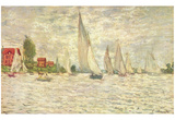 Claude Monet (Sailboats, or Regatta at Argenteuil) Art Poster Print Posters