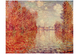 Claude Monet (Autumn in Argenteuil) Art Poster Print Photo