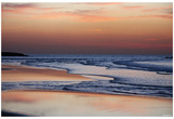 Beach (Sunset Over Calm Water) Art Poster Print Photo