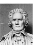 Bust of John C. Calhoun (Black and White Photo) Art Poster Print Posters