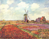 Claude Monet (Tulips in Holland) Art Poster Print Masterprint