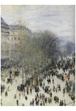 Claude Monet (Boulevard Des Capucines) Art Poster Print Print