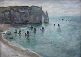Claude Monet (The Cliffs at Etretat) Art Poster Print Masterprint
