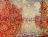 Claude Monet (Autumn in Argenteuil) Art Poster Print Masterprint