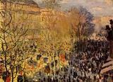 Claude Monet (Boulevard des Capucines in Paris) Art Poster Print Masterprint