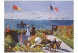 Claude Monet (Jardin a Sainte-Adresse) Art Poster Print Posters