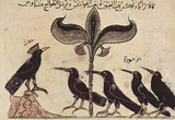 Arab painters around 1210 (Kalila and Dimna, jackal tales, scene: The king and his crows Councils) Masterprint