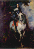 Anthony van Dyck (Portrait of Charles I, King of England) Art Poster Print Poster