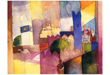 August Macke (Kairouan (III)) Art Poster Print Posters