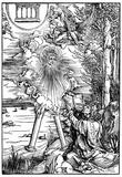 """Albrecht Durer (Illustration for """"Apocalypse,"""" Scene: John devours the book) Prints"""