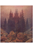 Caspar David Friedrich (Cross and cathedral in the mountains) Art Poster Print Print