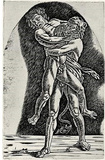 Andrea (School) Mantegna (Hercules and Antaeus) Art Poster Print Masterprint