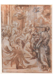 Andrea Sacchi (Naming John the Baptist) Art Poster Print Prints