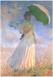 Claude Monet (Woman with a Parasol, 1886) Art Poster Print Prints