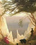 Caspar David Friedrich (Chalk Cliffs on Rugen) Art Poster Print Masterprint