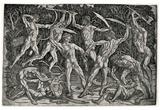 Antonio Pollaiuolo (Battle of the naked men) Art Poster Print Prints