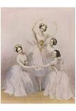 Alfred Edward Chalon (Famous dancers of the Royal Opera: Carlotta Grisi, Maria Taglioni, Lucile Gra Plakater