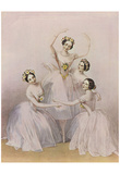 Alfred Edward Chalon (Famous dancers of the Royal Opera: Carlotta Grisi, Maria Taglioni, Lucile Gra Prints
