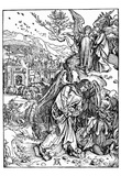 "Albrecht Durer (Illustration for ""Apocalypse,"" Scene: The angel with the key to the abyss) Posters"