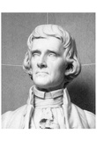 Bust of Thomas Jefferson (Black and White Photo) Art Poster Print Prints