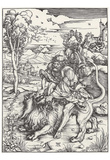 Albrecht Durer (Samson tears the lion) Art Poster Print Posters
