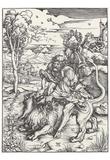 Albrecht Durer (Samson tears the lion) Art Poster Print Posters