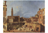 Canaletto (II) (The courtyard of the stone masons) Art Poster Print Photo
